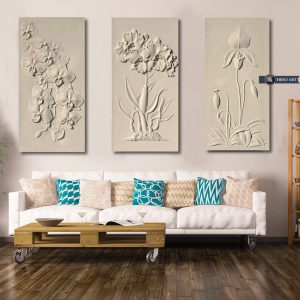 tranh treo tường phù điêu hoa lan