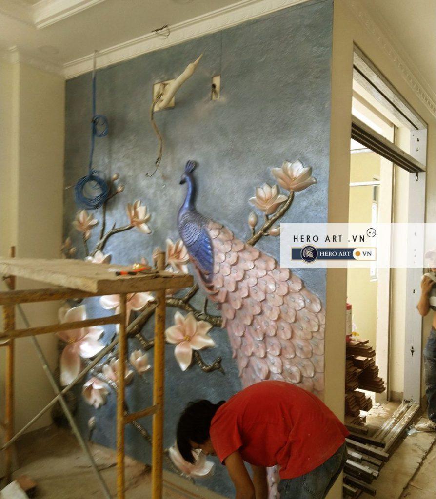 thi công đắp tranh nghệ thuật