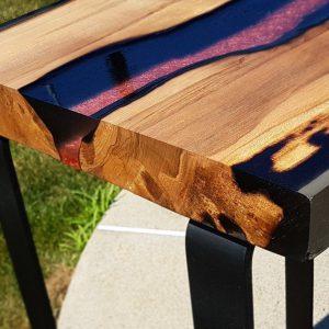 bàn gỗ cafe epoxy