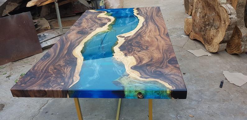 bàn gỗ epoxy chất lượng
