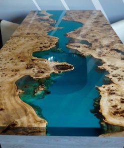 làm bàn epoxy bằng gỗ