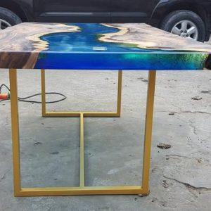 bàn epoxy gỗ tự nhiên