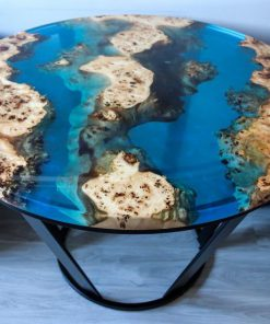 bàn epoxy tròn