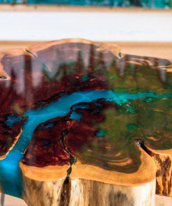 làm bàn gỗ epoxy chân kim loại