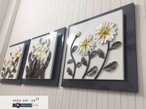 bộ tranh treo tường độc đáo hoa lan