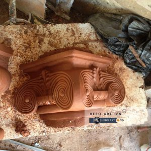 đầu cột họa tiết trang trí nhà cổ điển