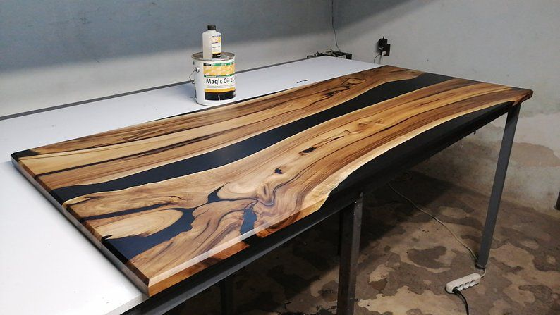 mặt bàn gỗ epoxy lớn