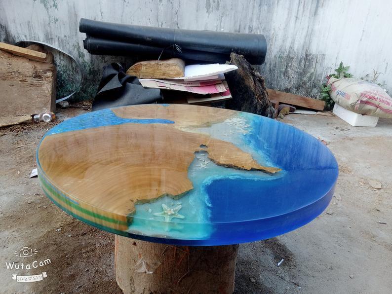 mua bàn epoxy mặt tròn