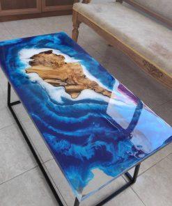 làm bàn gỗ epoxy