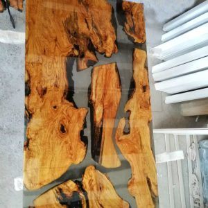 bàn gỗ keo epoxy chữ nhật