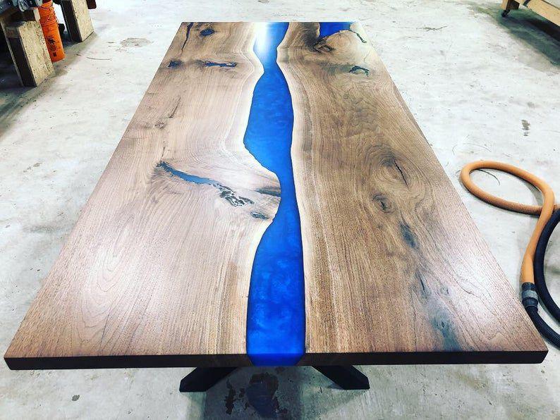 mặt bàn gỗ epoxy