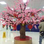 cây hoa đào giả đồ trang trí tết 2020