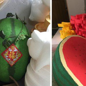trái dưa hấu bằng xốp