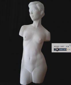 tượng thạch cao bán thân nữ