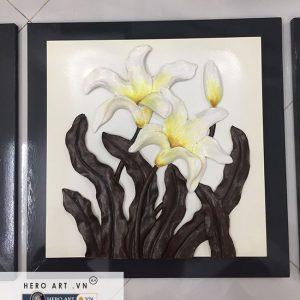 bộ tranh treo tường hiện đại hoa lan