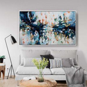 vẽ tranh treo phòng khách