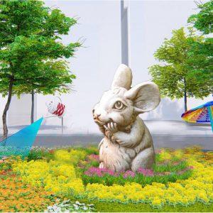 tượng chuột trang trí tết 2020