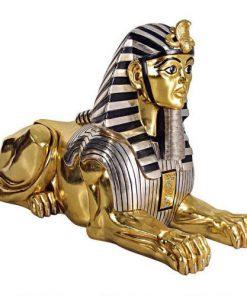 tượng nhân sư mạ vàng