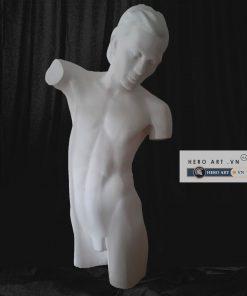 tượng bán thân nam thạch cao học vẽ