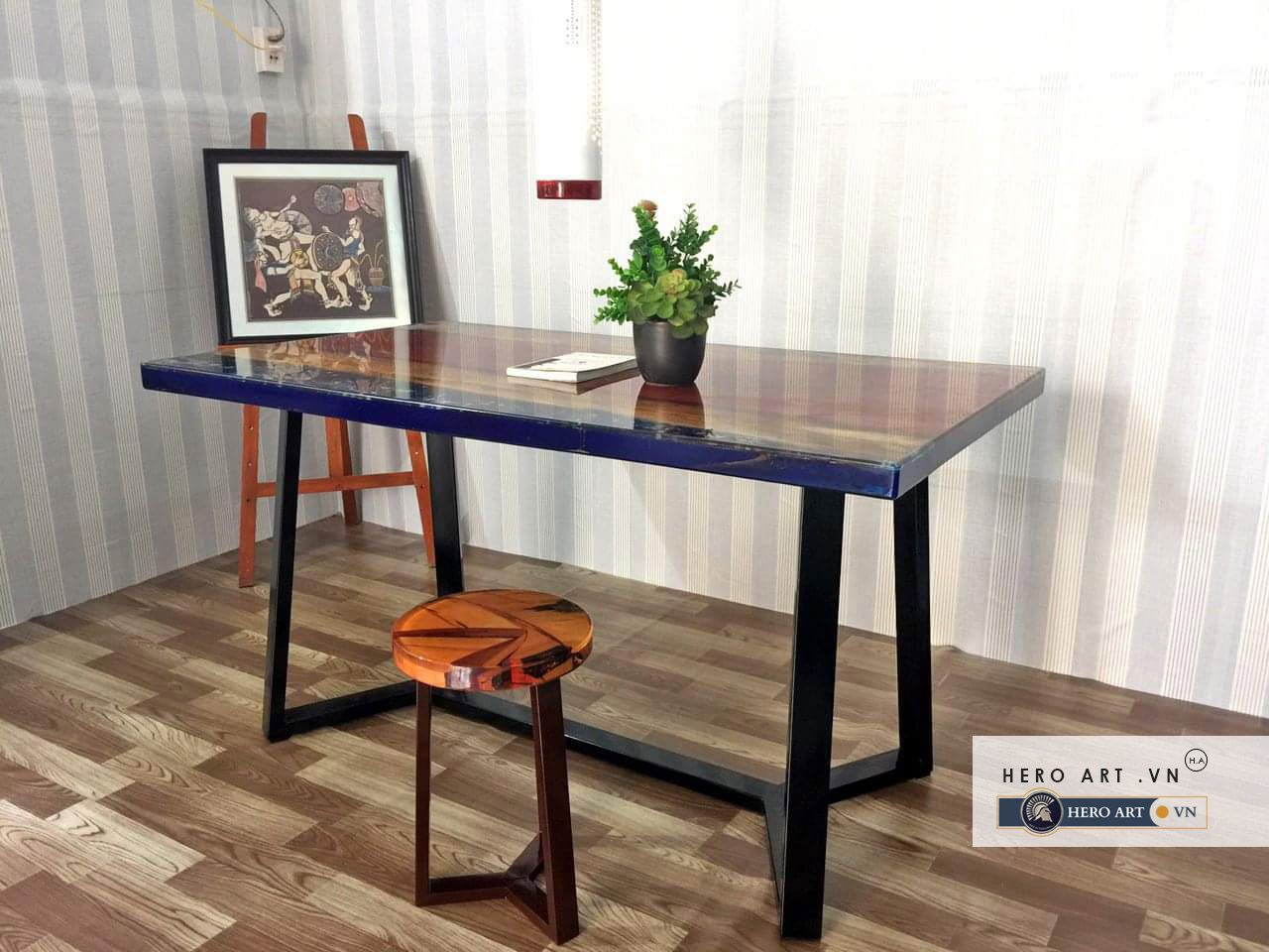 Bộ bàn ghế epoxy