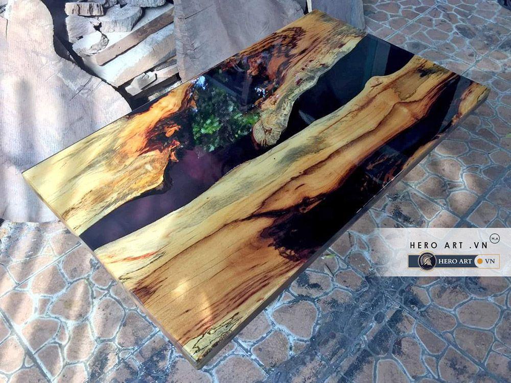 mặt bàn gỗ eooxy trang trí nội thất