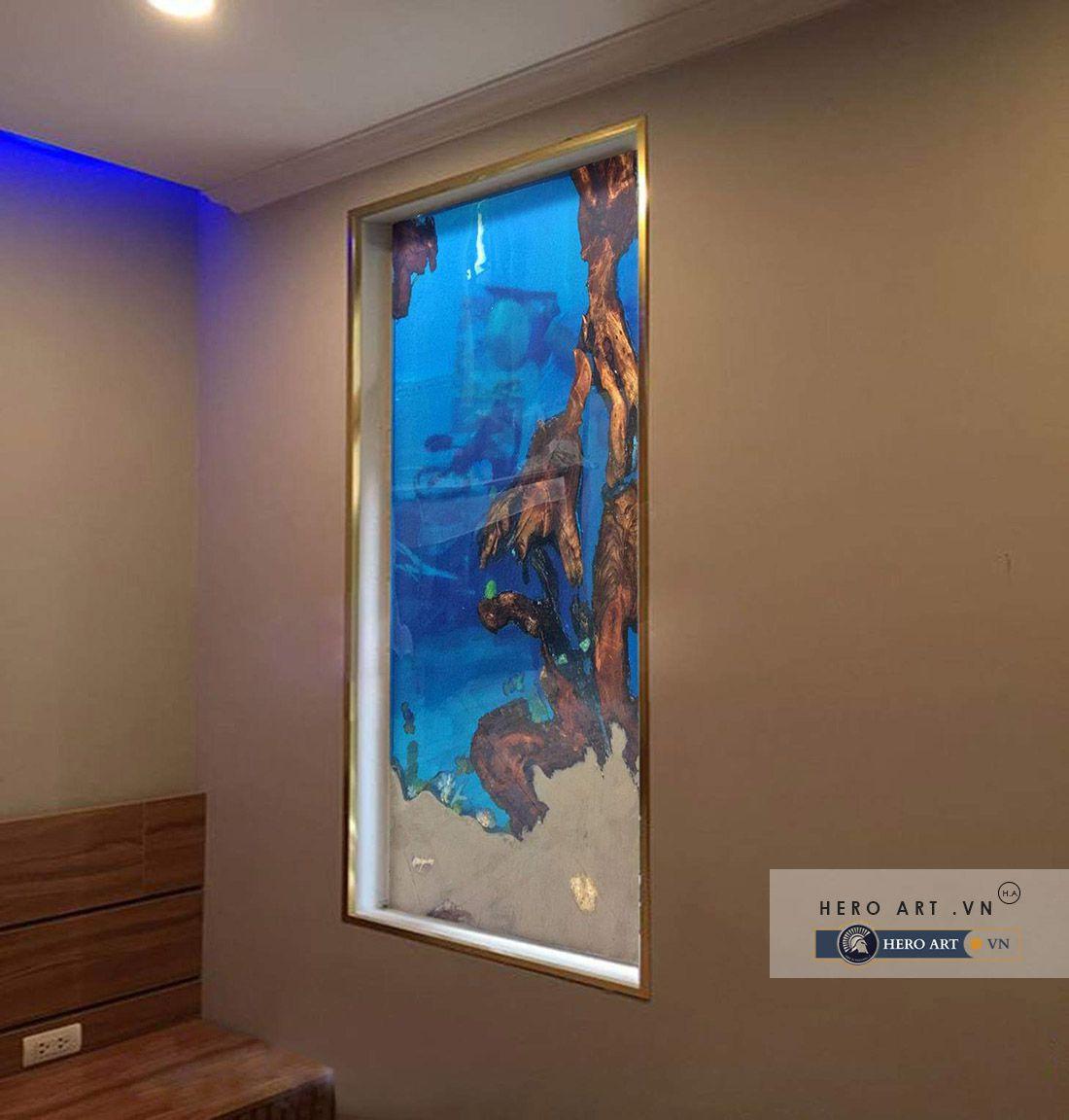 tranh epoxy trang trí nội thất