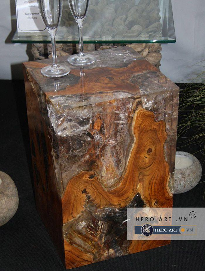 đồ trang trí epoxy, gỗ