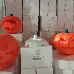 bán trái bí ngô trang trí halloween