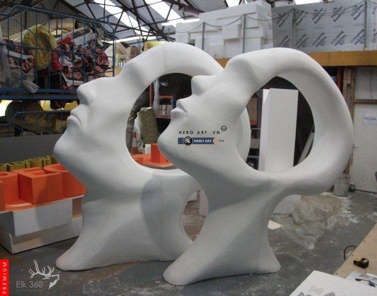 khắc tượng mút xốp, mô hình 3d