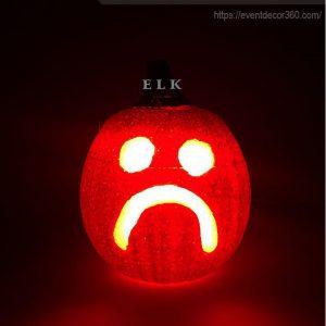 đèn bí ngô halloween bằng nhựa, mút xốp