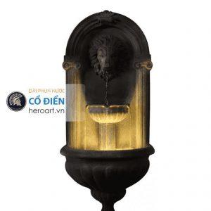 đài phun nước châu âu có đèn chiếu