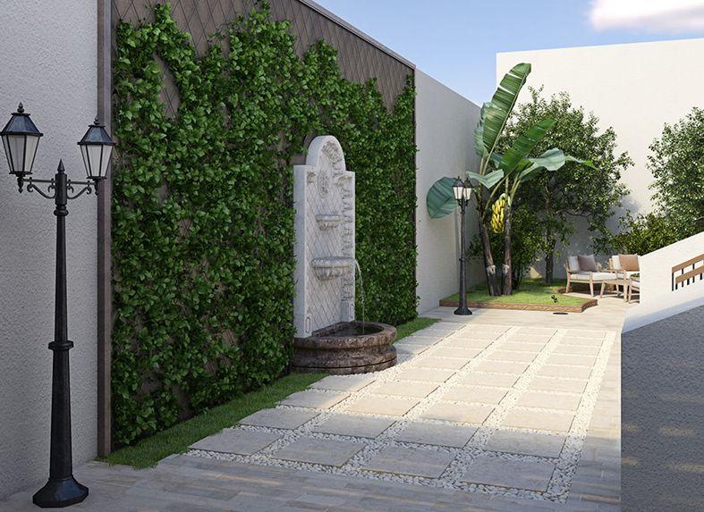 trang trí sân vườn cổ điển