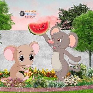 tượng chuột trang trí tiểu cảnh ngày tết 2020