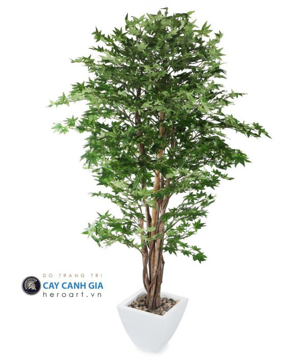 bán cây phong giả lá xanh