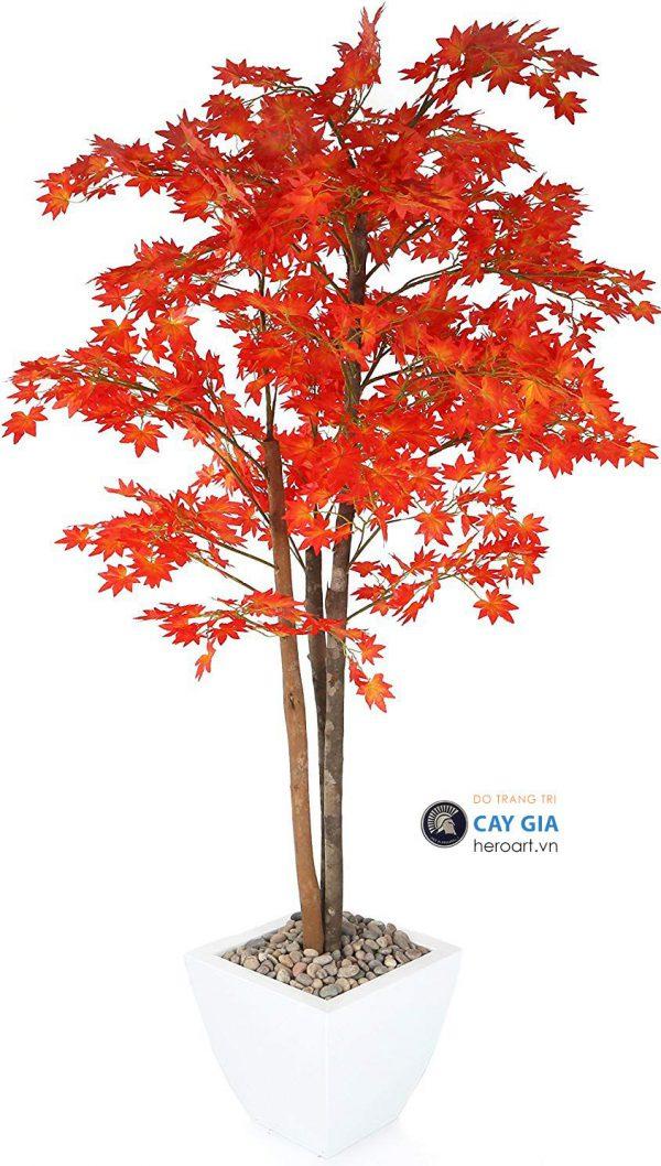 cây cảnh giả, cây phong lá đỏ bằng nhựa