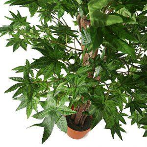 cây cảnh giả trang trí. Cây phong lá xanh