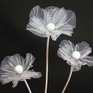 làm hoa giả khổng lồ bằng vải voan