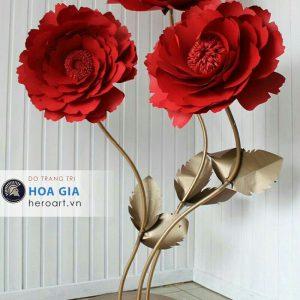 làm hoa giả khổng lồ, hoa giấy