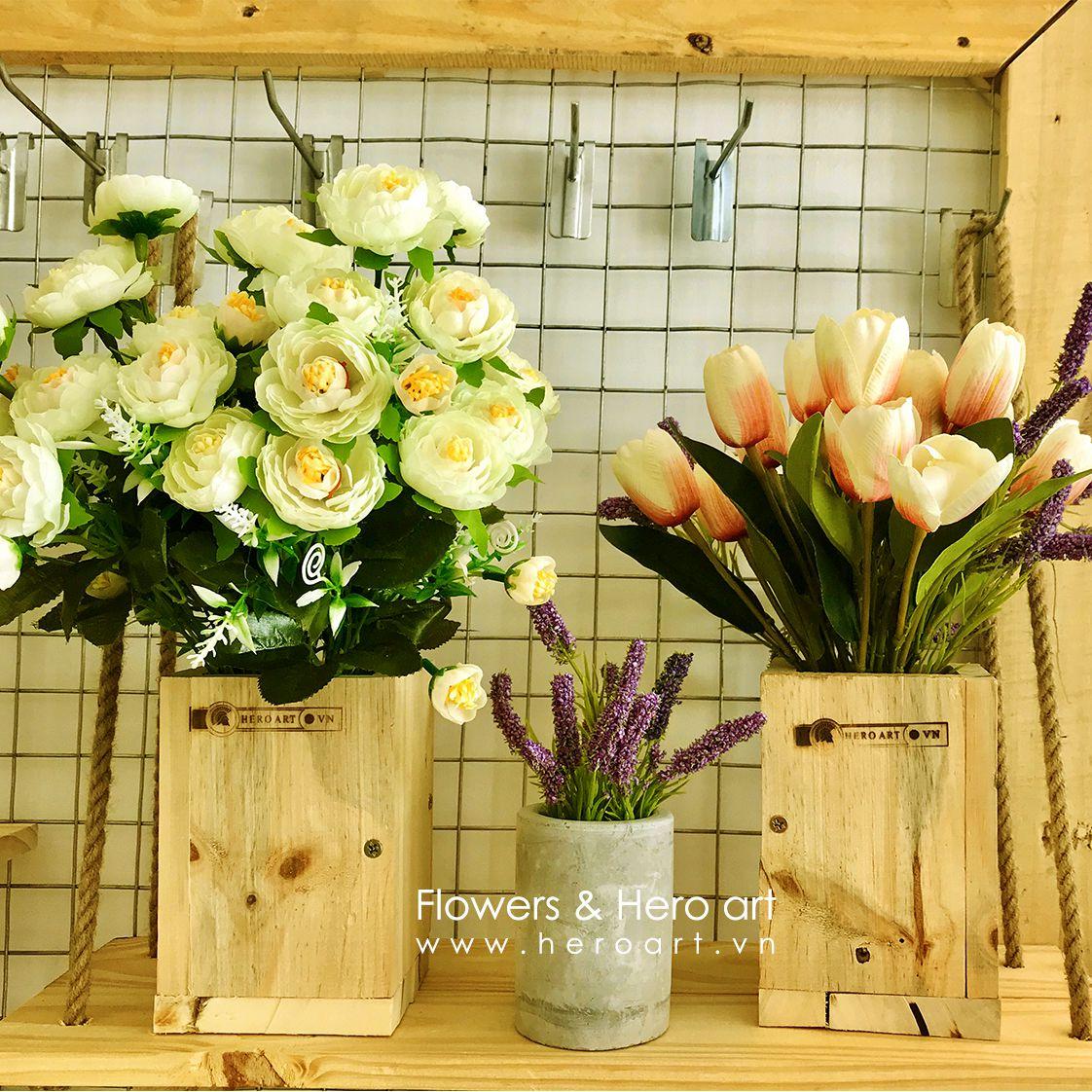 bán bình hoa giả trang trí phòng khách