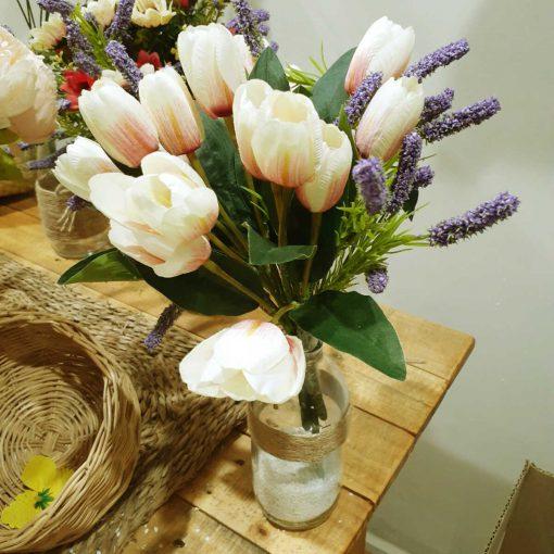 bán bình hoa giả trang trí bàn
