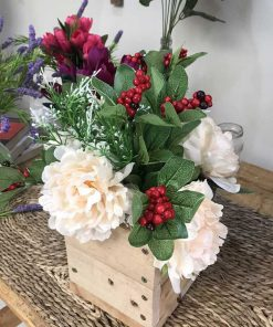 Cành hoa lụa vintage