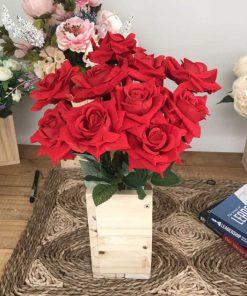 Chậu hoa giả trang trí phòng khách