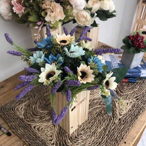 Bình hoa giả cắm sẵn trang trí đẹp