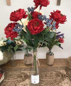 hoa trà nhị đen hoa giả để bàn
