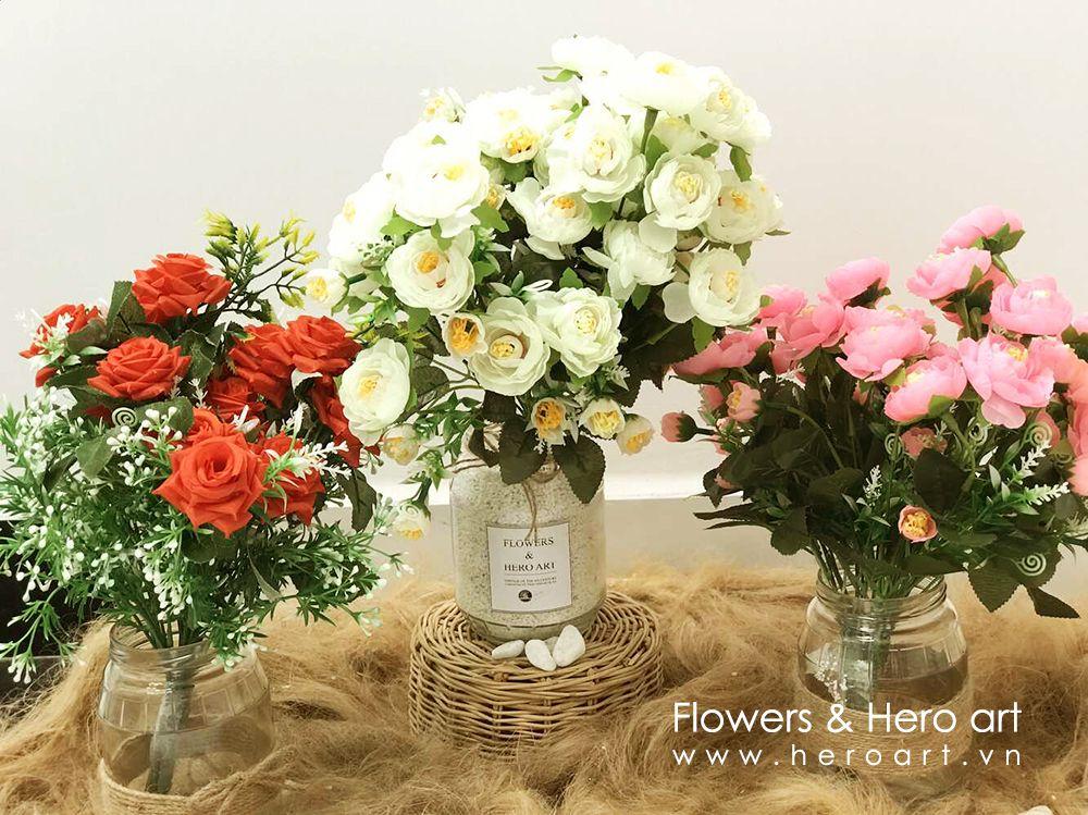 lọ hoa giả để bàn đẹp