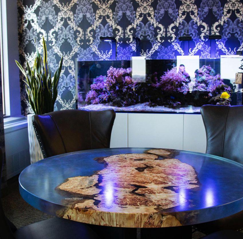 bàn trong epoxy trang trí không gian làm việc