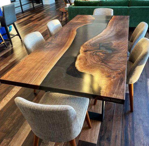 bàn gỗ epoxy bàn ăn trang trí nhà bếp