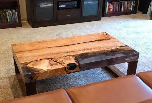 bàn cafe epoxy trang trí phòng khách