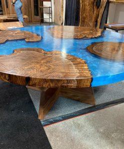bàn epoxy tròn bàn ăn