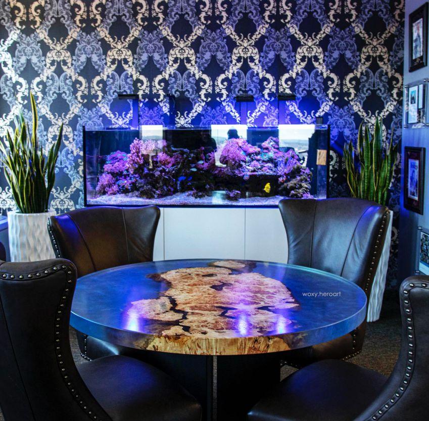 bàn ăn epoxy trang trí